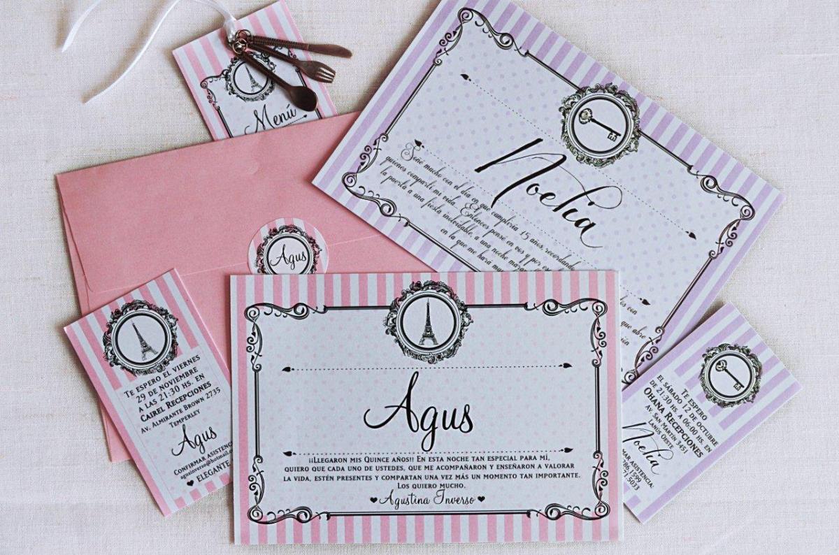 Tarjetas de 15 rom nticas chic tarjetas de 15 for Tarjetas de 15 anos vintage