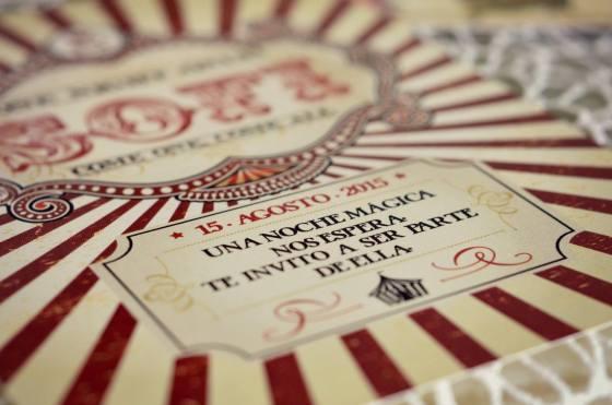 Tarjeta 15 años circo 6