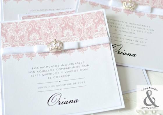 Invitación elegante corona 4