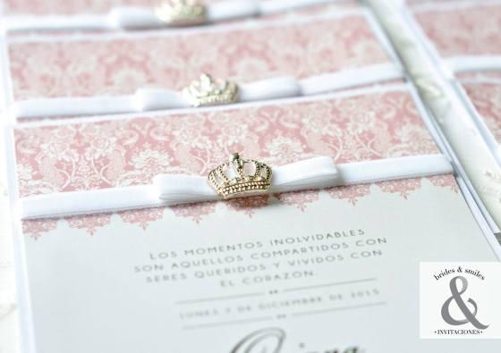 Invitación elegante corona 5