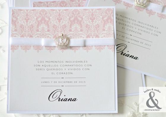 Invitación elegante corona