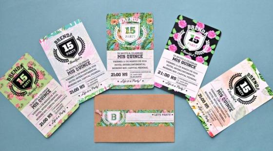 Tarjetas de 15 florales y divertidas