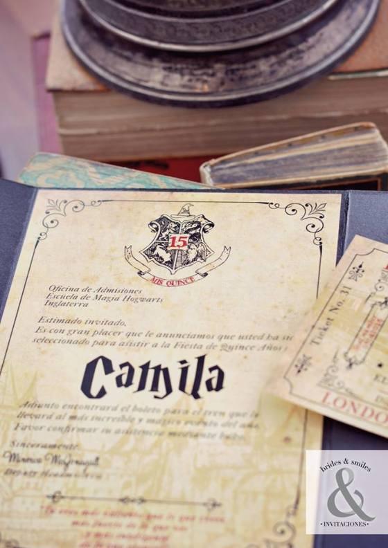 Tarjeta de 15 Harry Potter