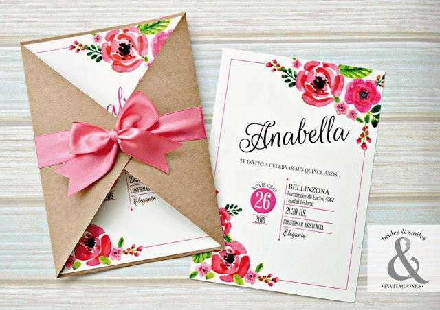 tarjeta de 15 floral chic tarjetas de 15 tarjeta de 15 floral chic tarjetas de 15